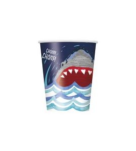 Bicchieri Shark party 8pz 270ml