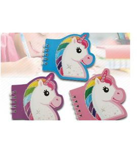 Block notes mini unicorno