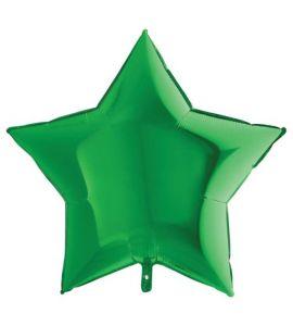Stella mylar verde lucido 20 pollici