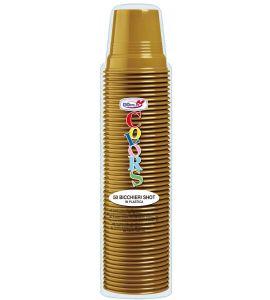 Colors Bicchiere Shot 80cc Oro 50pz