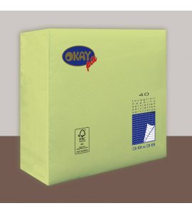 Tovaglioli OKAY Vert Pommes (Verde Lime) 38x38cm 40pz