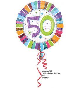 Palloncino mylar tondo radiant 50 anni 18 pollici - Compleanno