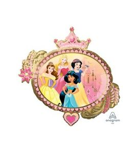 Palloncino mylar princess once upon time 34x32 pollici