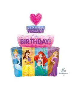 Palloncino mylar  super shape multi princess cake 21x28pollici