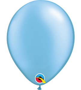 Palloncini in lattice 5rnd pearl azure 100 pz