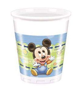 Baby Topolino Bicchiere 200ml 8pz