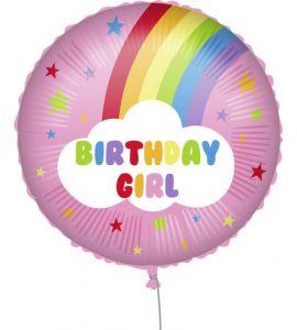 Palloncino mylar Birthday Girl Rainbow 18 pollici 45cm