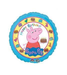 "Palloncino mylar Peppa Pig ""Happy Birthday!"" 18 pollici"