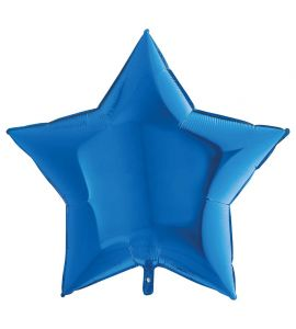Stella mylar blu 36 pollici